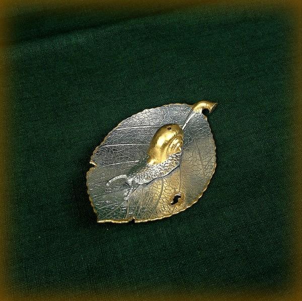 Сян Лу, серебро, Улитка на листе