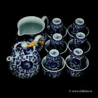 """Набор """"Танские травы"""" чайник + чахай + 6 чайных пар"""