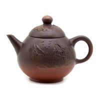 Чайник старая киноварная и каштановая глина Тайвань 210 мл
