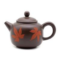 """Чайник старая киноварная глина Тайвань """"Листья клёна"""" 195 мл"""