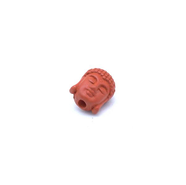 Бусина киноварь Голова Будды Шакьямуни 10*8 мм