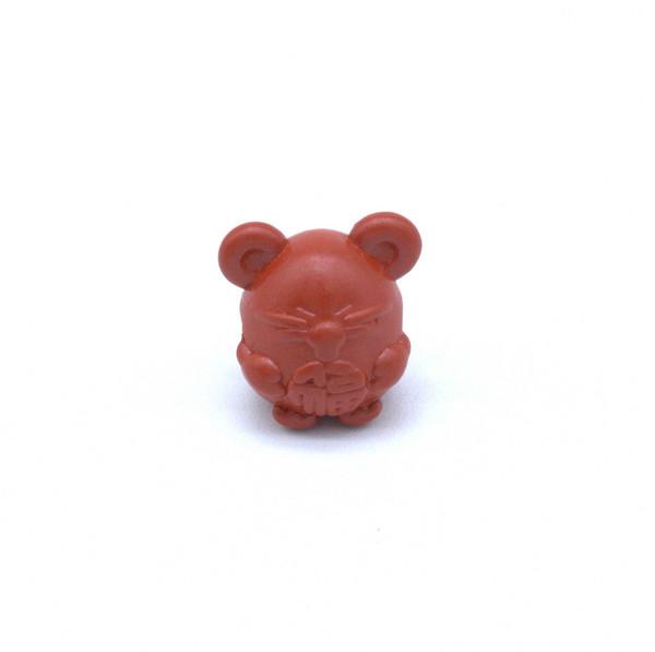 Бусина киноварь Мышь 10 мм