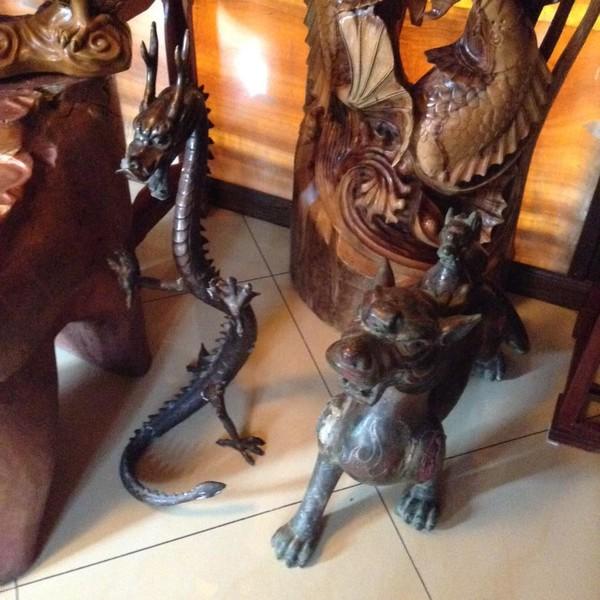 Скульптура бронза дракон 160 см