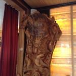 Скульптура черепха дракон и карпы
