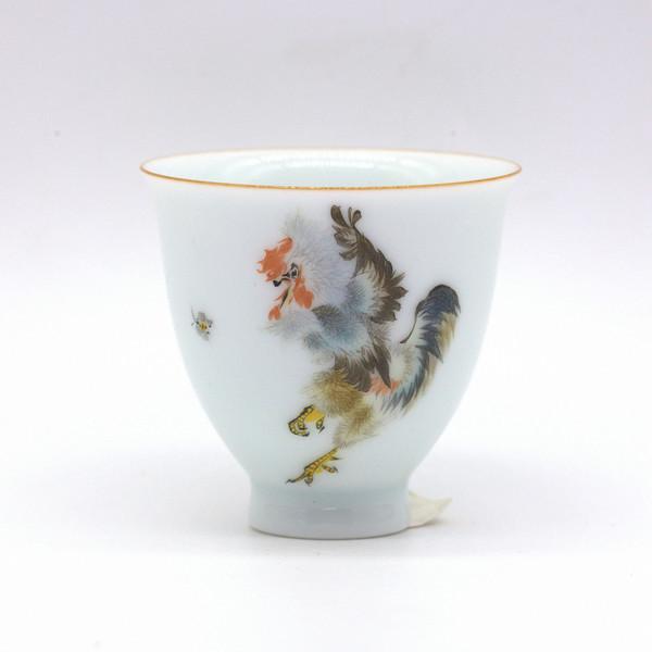 Чашка фарфор Петух