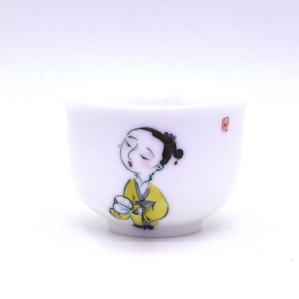 "Чашка ""Китаянка в жёлтом"" 85 мл"