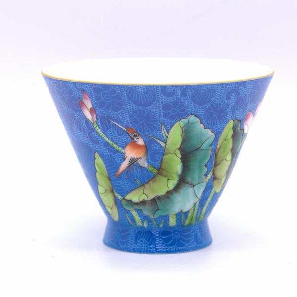 "Чашка ""Лотосы и птица"" 135 мл"
