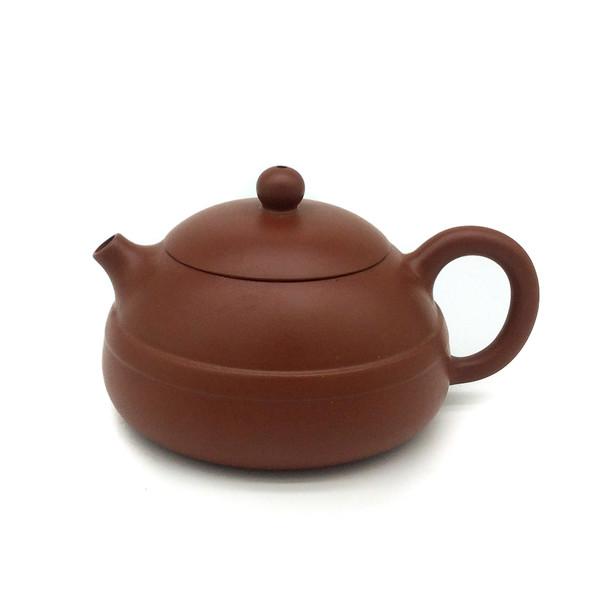 """Чайник глина рыжая """"С ободом"""" 170 мл"""