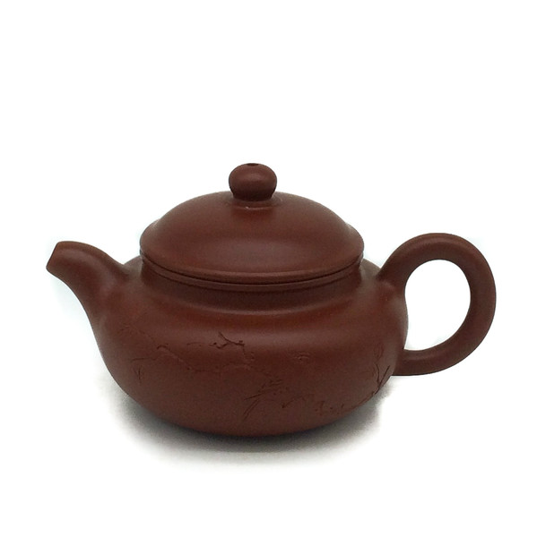 """Чайник глина рыжая """"Птица на ветке"""" 80 мл"""