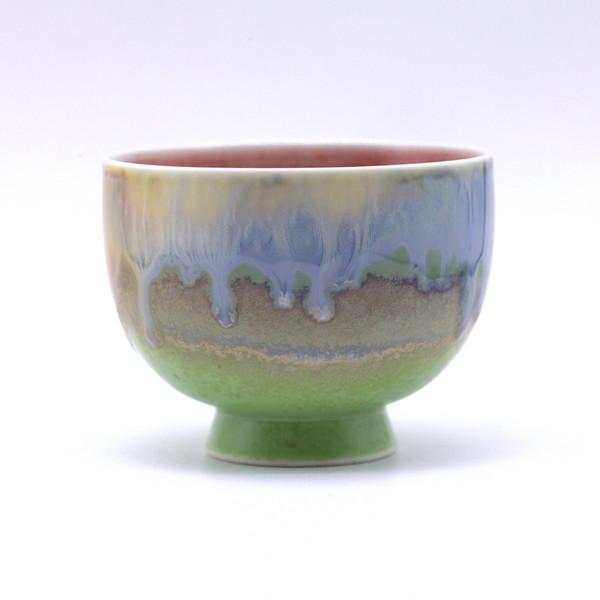 Чашка 01689 фарфор обливная глазурь 115 мл