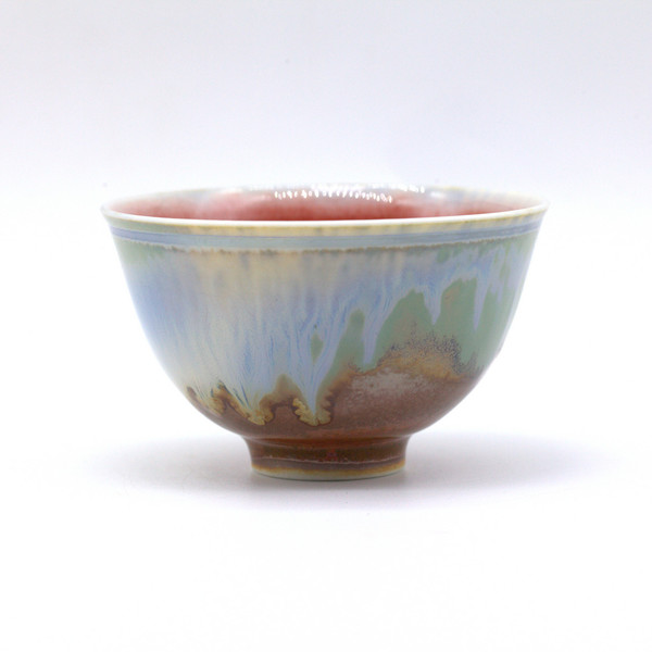 Чашка 01689 фарфор обливная глазурь 105 мл