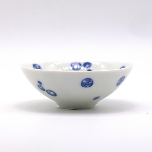 Чашка фарфор белая с кругами 70 мл