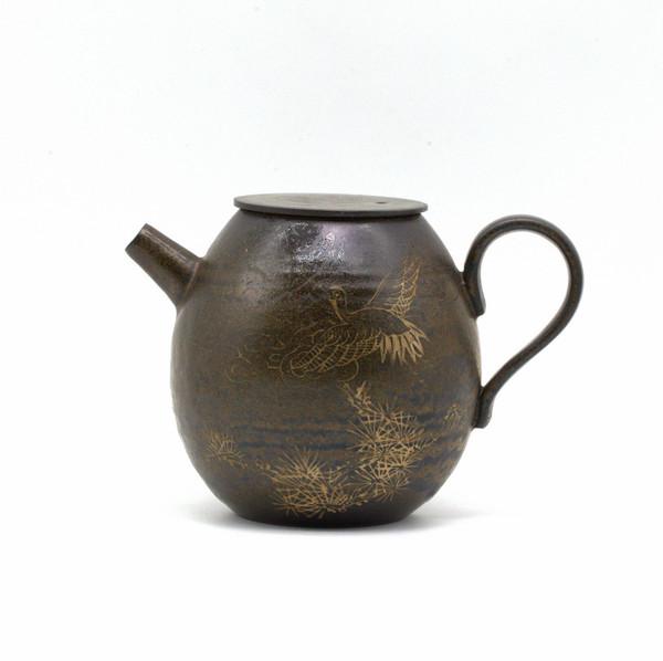 Чайник глина журавль 190 мл