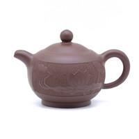 Чайник глина коричневая цветок лотоса 165 мл