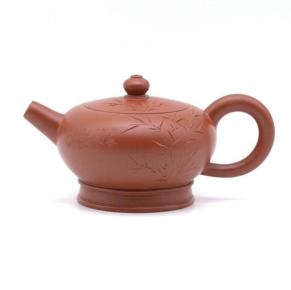 Чайник глина красная бамбук 90 мл