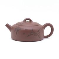 Чайник глина коричневая бамбук 155 мл