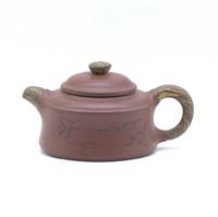 Чайник глина коричневая птица на ветке 110