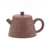 Чайник глина коричневая бамбук 160 мл