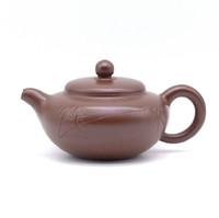 Чайник глина коричневая бамбук 150 мл