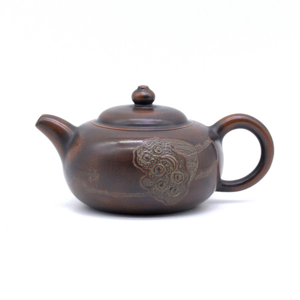 Чайник глина коричневая коробочка лотоса 100 мл