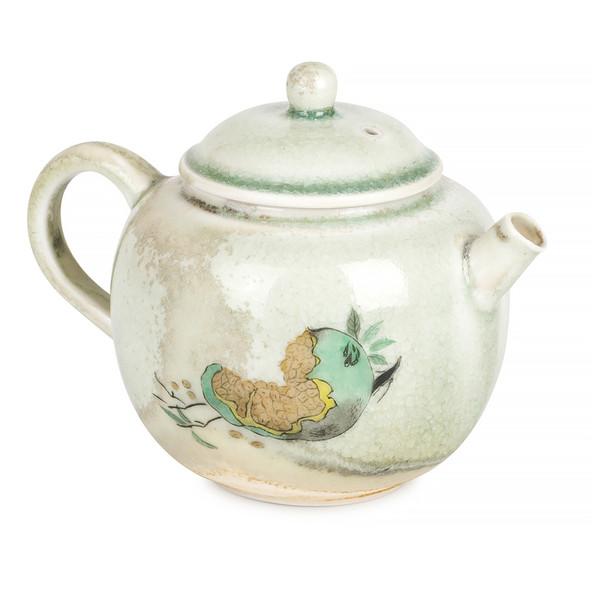 Чайник фарфор дровяной обжиг Глазурь Сино 210 мл