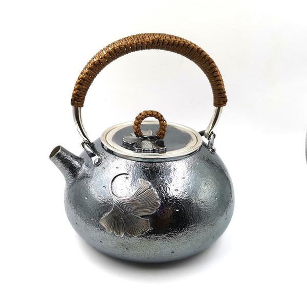 """Чайник для воды серебро """"Гингко"""""""