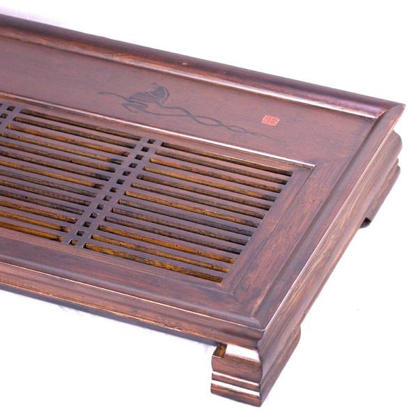 """Чайный столик бамбук """"Чжу Ма"""" 47х33х7,5"""
