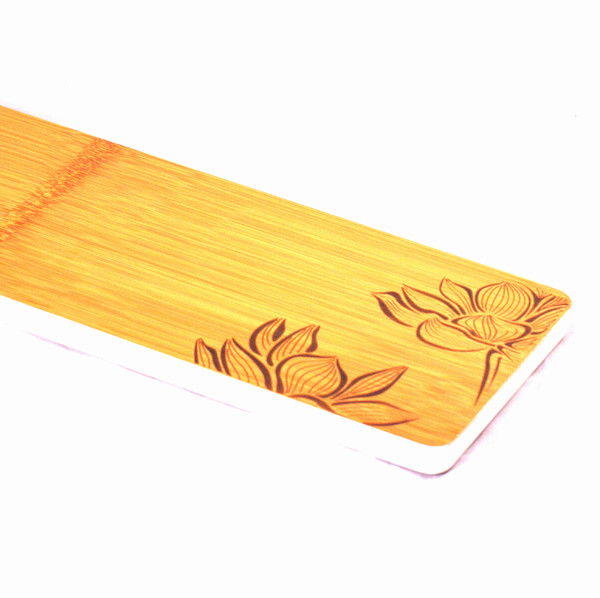 """Чайный столик бамбук """"Цветы лотоса"""" 40*14*1.8"""