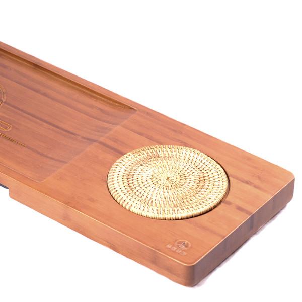 """Чайный столик бамбук """"Облака"""" 67*20*5,5"""
