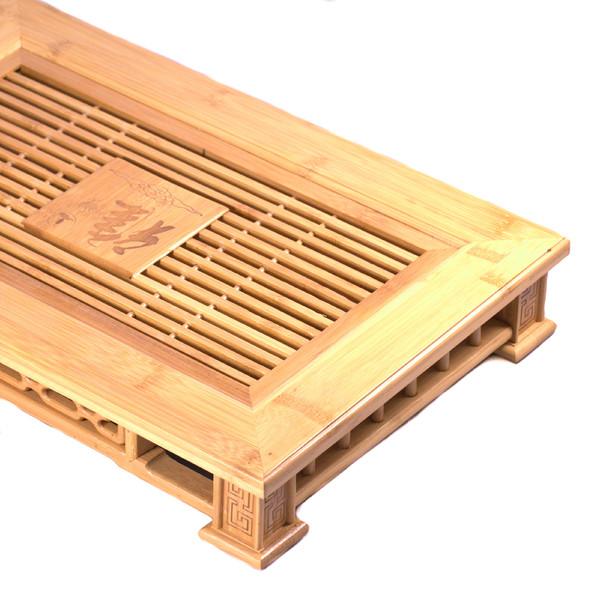 """Чайный столик бамбук """"Печать"""" малый 30,5х45,5см"""