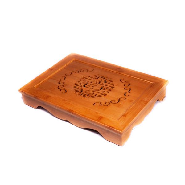 Чайный столик бамбук Счастье 40,5х29x6,5 см