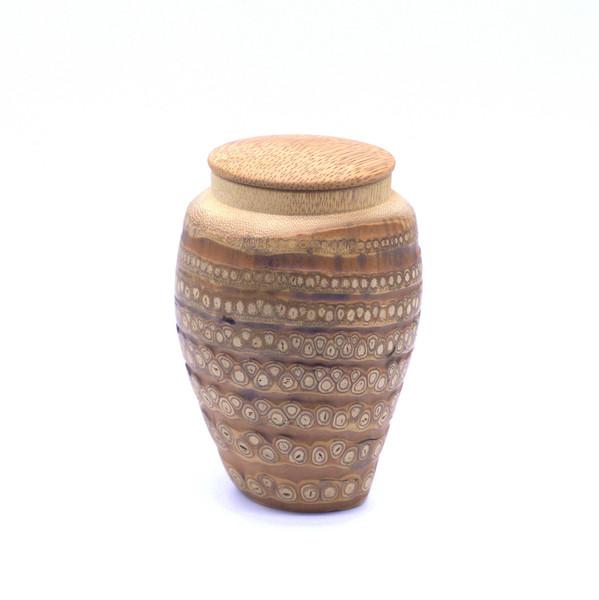 """Банка для чая корень бамбука """"Ваза"""""""