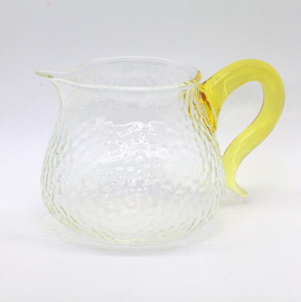 """Чахай стекло """"Граненый с желтой ручкой"""" 340 мл"""