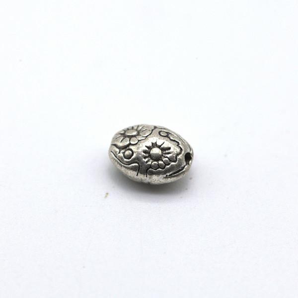 Бусина металл Цветы 6*7,5 мм