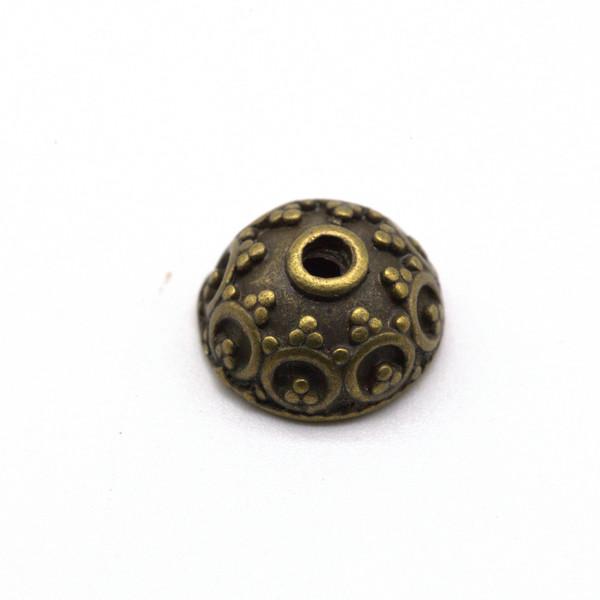 Шапочка для бусин металл Античная латунь 10 мм