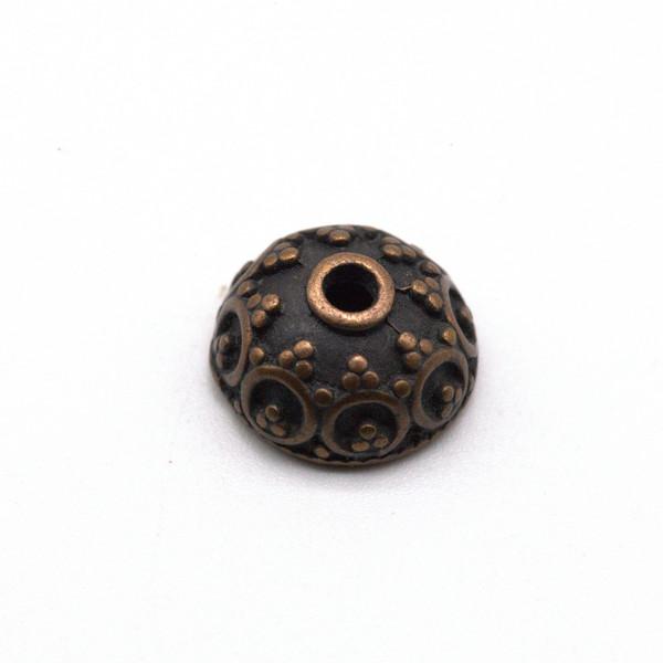 Шапочка для бусин металл Античная медь 10 мм