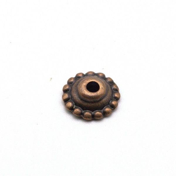 Шапочка для бусин металл Шапка Мономаха медь 8,5 мм