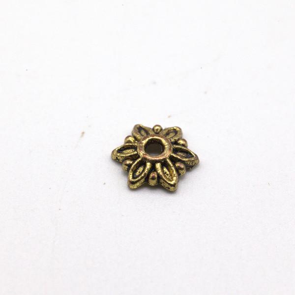Элемент металл Цветок Античное золото 8 мм