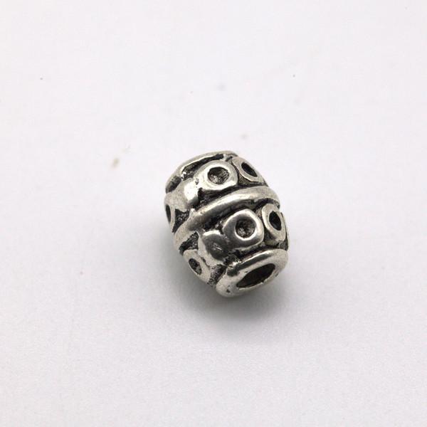 Бусина металл Бочонок 8*6 мм
