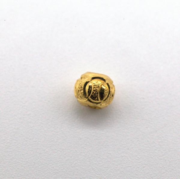 Бусина металл позолота 4 мм