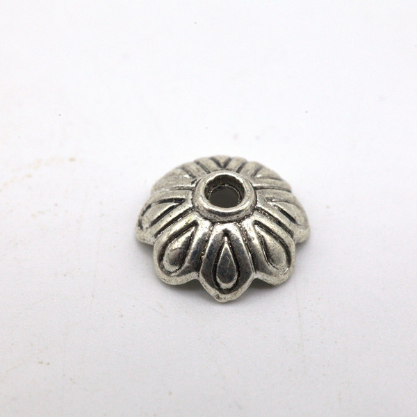 Шапочка для бусин металл 10 мм