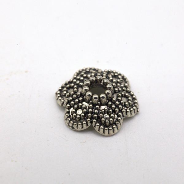 Шапочка для бусин металл Цветок 12 мм