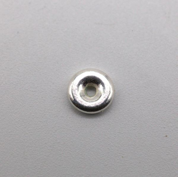 Бусина металл серебро кольцо 5 мм
