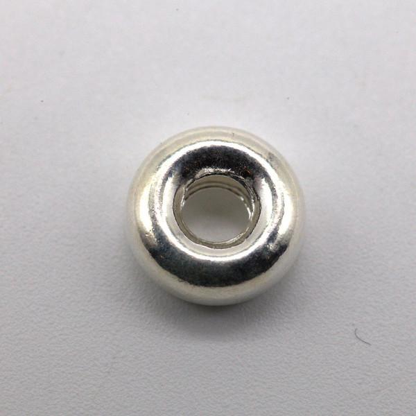 Бусина металл серебро кольцо 9 мм