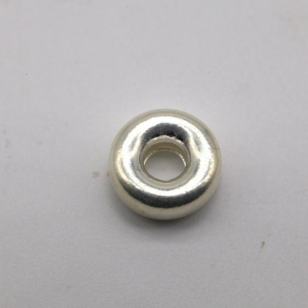 Бусина металл серебро кольцо 10 мм