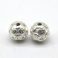 Бусина серебро жемчужина мудрости 10 мм