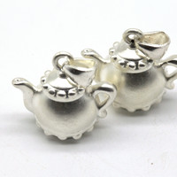 Серебро чайник 23*20 мм