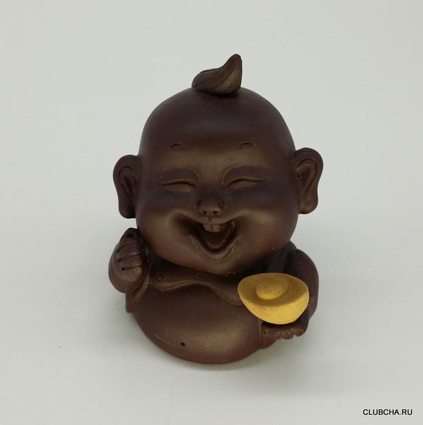 """Фигурка глина """"Младенец со слитком золота"""""""