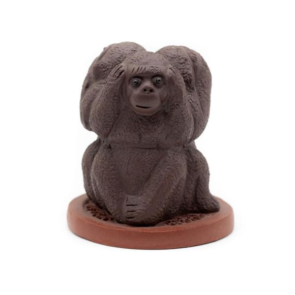 Фигурка глина Три обезьяны