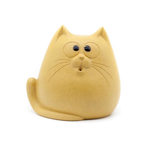 Фигурка глина Кот жёлтый